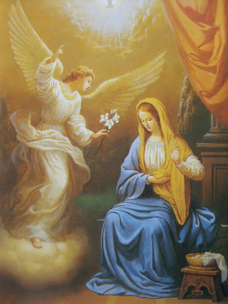 Дева Мария и архангел Гавриил