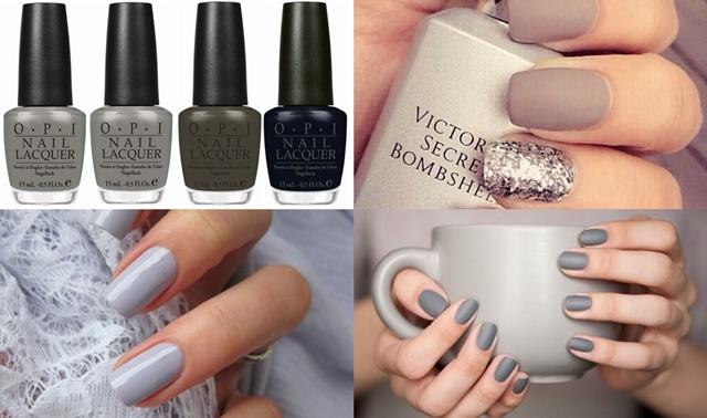 Серый цвет ногтей