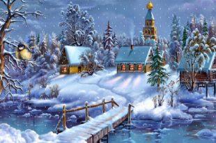 Деревушка зимой