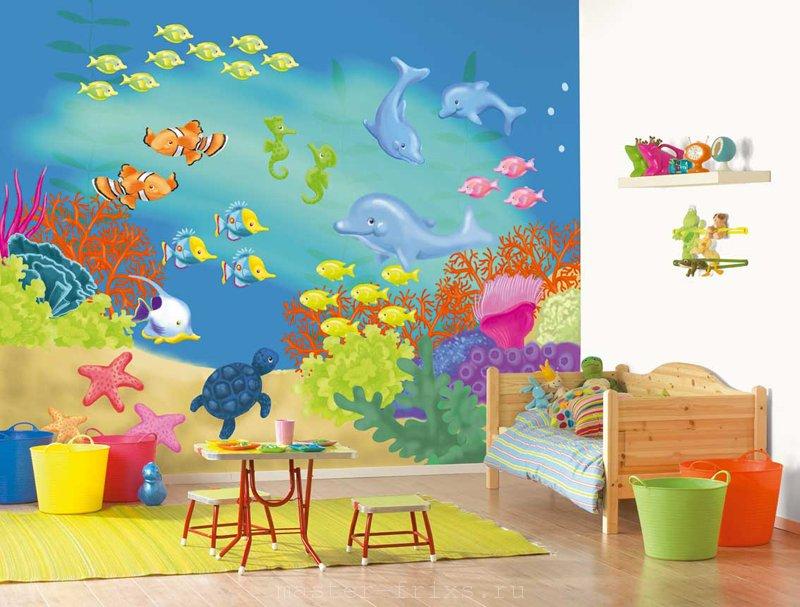 Декорирование стен в детской комнате 2019-2020